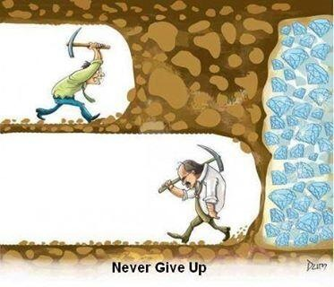 Quit give up