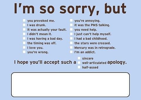 apology excuse
